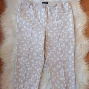 Pants - Beige and white floral Cambio pants